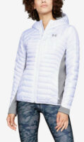 Fehér öngyújtó sport női téli kabát
