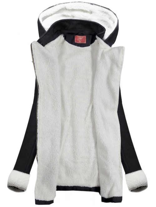 Fekete-fehér női téli kabát