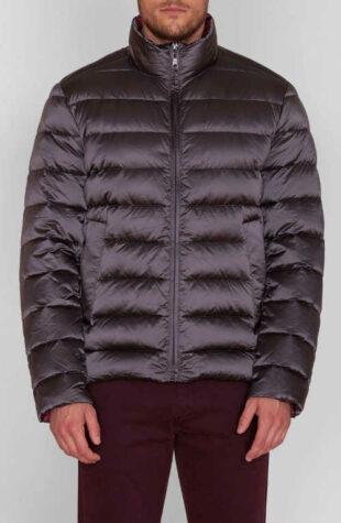 Férfi téli kabát acélszürke