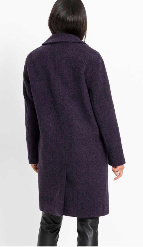 Lila női kabát zsebbel