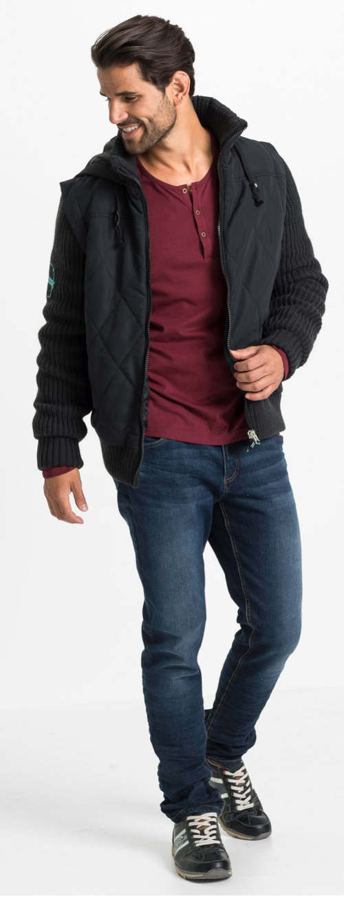 Modern férfi kabát télire