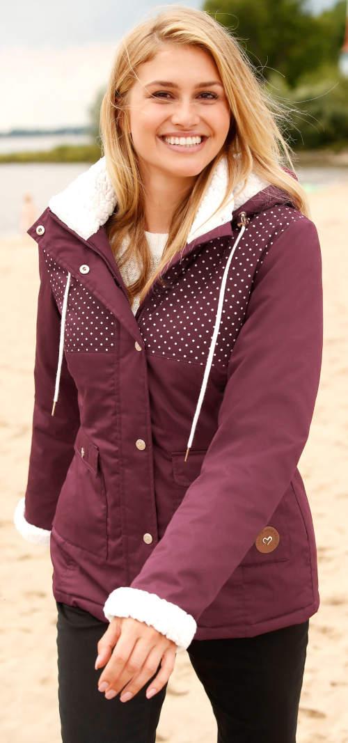 Bonprix téli kabát gyapjúval az ujjakon és a galléron