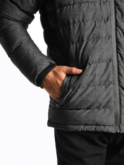 Férfi szürke kabát kapucnival