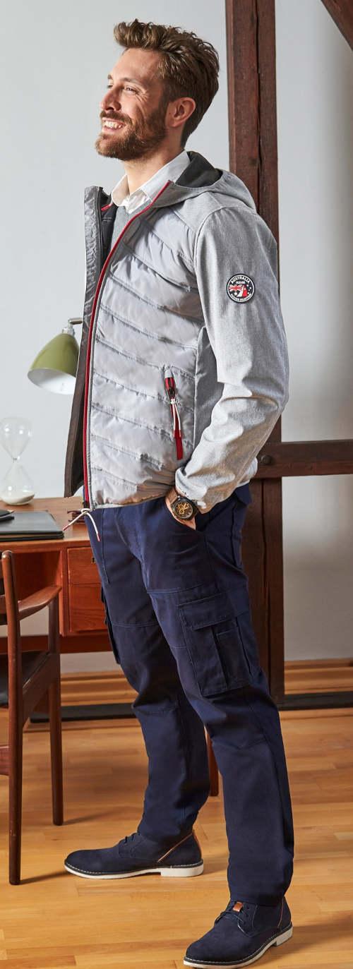 Modern férfi softshell kabát szürke színben