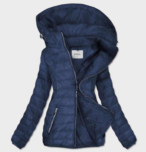 Női hosszabb steppelt kabát levehető kapucnival