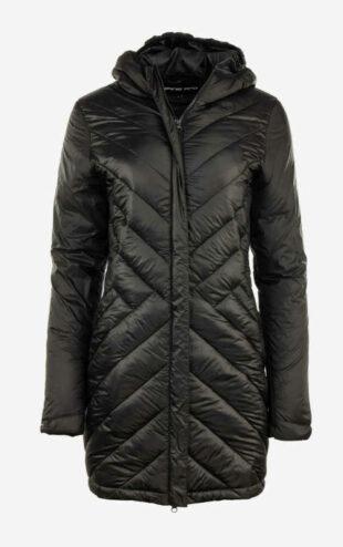 Női steppelt hosszú kabát kapucnival Alpine Pro