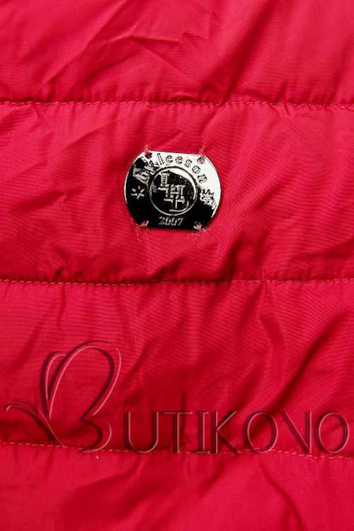 Piros steppelt kabát hosszabbított hosszban
