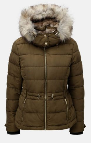 Barna steppelt női télikabát ONLY Vigga