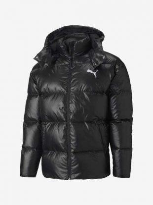 Férfi Puma steppelt kabát praktikus kapucnival