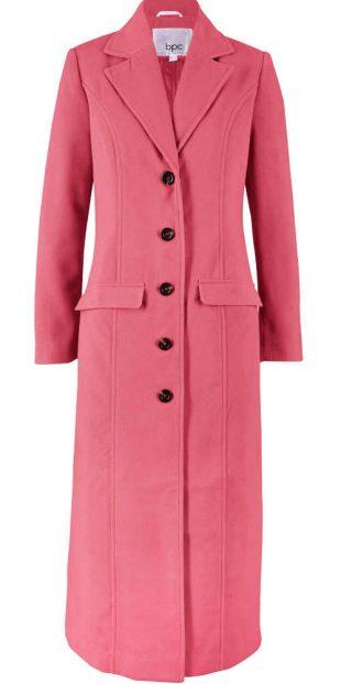 Hosszú női rózsaszín kabát