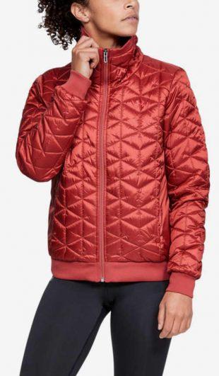 Női piros steppelt kabát fiataloknak Under Armour