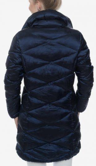 Olcsó női steppelt kabát magasabb álló gallérral