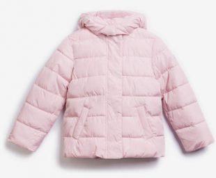 Világos rózsaszín gyermek steppelt télikabát GAP